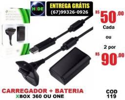 Kit carregador + bateria Xbox (entrega grátis)
