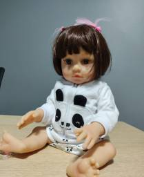 Boneca Bebê Reborn Sophia 100% Silicone Menina 47 Cm Realista
