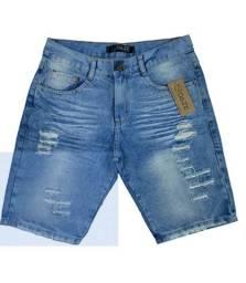 Incrível Bermuda Jeans da Moda Masculina Destroyed