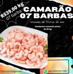 Título do anúncio: Camarão 07 barbas ,atacado, somente acima de 05 kg