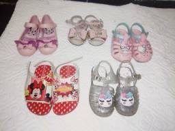 Lote calçados de menina Tam 22