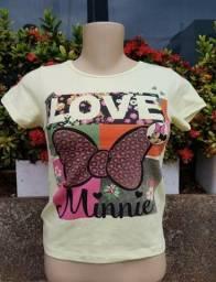 Kit com 10 camisetas feminino adulto