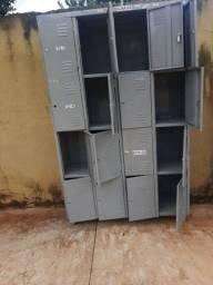 Guarda volumes armário de aço 16 portas com 16 chaves entrego