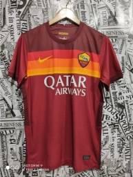 Camisa da Roma vermelha 2020/21
