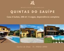 Chance Imperdível : Quintas do Sauípe, casa 4 suítes, 298 m², 5 vagas, porteira fechada