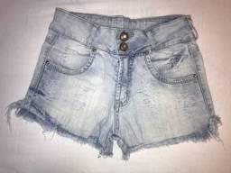 short jeans claro, garotada, tamanho 12