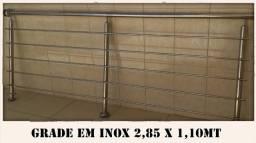 Grade em inox semi nova 2,85 x 1,10 mt