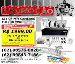 Kit Cftv FullHD com 4 câmeras TWG
