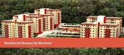 Correas - Apartamento em condomínio novo com 2 qts e vaga.