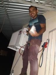 Limpeza de central é ar condicionado