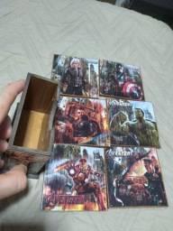 Título do anúncio: Porta copos de madeira. Avengers