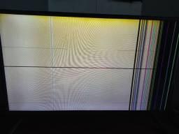 "Tv Samsung 32"" modelo 32LB550B-SD listras na tela"