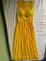 Vestido de festa / vestido de madrinha amarelo