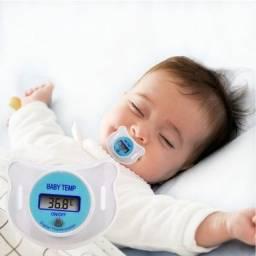 Chupeta Termômetro LCD Monitor de temperatura do bebê Importado Novo