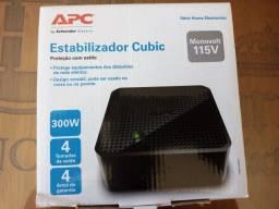Estabilizador Apc 300w Cubic Bivolt/115v Cubic300bi-br<br><br>