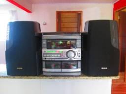 Sistema de som surrond aiwa s90 potente entrego e parcelo