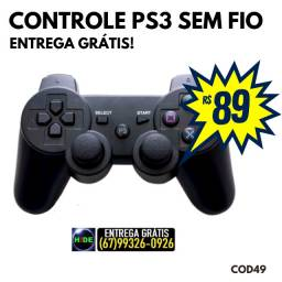 Controle PS3 Sem Fio Wireless Dualshock, Analógico