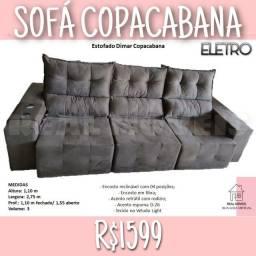 Título do anúncio: SOFÁ SOFÁ SOFÁ COPACABANA (ESCOSTO RECLINÁVEL COM 4 POSIÇÕES/ RETRÁTIL)