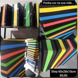 Step, roda abdominal, tapete, extensores, caneleiras, mini band's