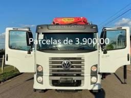 """VW Constellation 24260 2021 Munck Palfinger"""" 45T """", Entrada mais Parcelas com Serviço."""