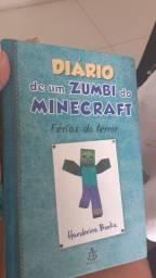 Livro diário de um zumbi do minecraft