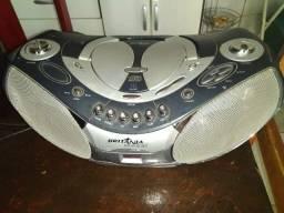 Radio 3 em 1 Britania Sound (Toca CD, Radio e Toca Fita) 110V