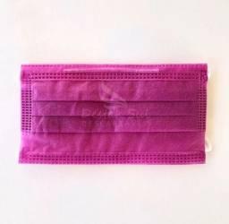 Máscara Tripla Proteção Rosa / Preta
