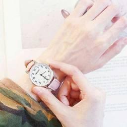 Moda Coração Dial Quartz Watch Relógio e pulseira  ( Caixa não inclusa)