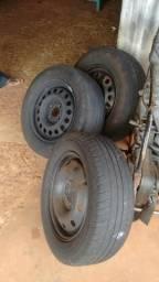 Rodas de ferro aro 14 com pneus