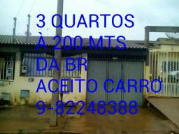 Ágio individual 3 qts à 200 mts da br aceito carro 9-82248388