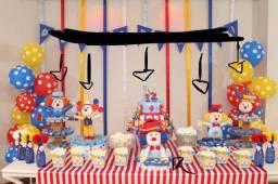 Kit para festa infantil tema palhaço/ circo