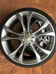 Rodas Audi TTS aro 20 5x112 com pneus