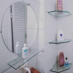 Kits de espelho e prateleira