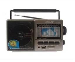 Radio Retro Lelong Le-604 Am/fm Usb Cartao Sd Recarregavel