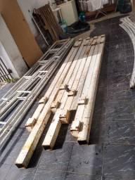 Estrutura para cobertura em ferro galvanizado