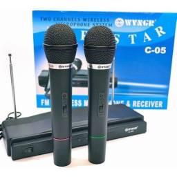 Promoção Amplificador com 2 Microfones Sem Fio, Novo, Entrego