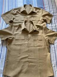 Vendo camisa bege meia-manga (8º uniforme EB) Antigo Delta
