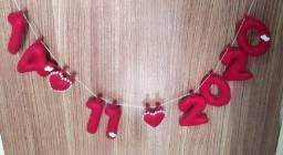 Save the date - Varal de data para eventos e casamento