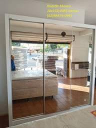 Guarda roupa casal espanha premiun 3 portas espelhadas/1599R$