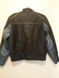 Jaqueta couro puro masculino