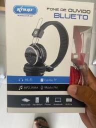 Fone de ouvido Bluetooth e micro SD