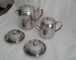 Conjunto em Inoxidável Café / Chá