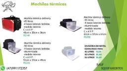 Mochila termica para entrega delivery e pizza