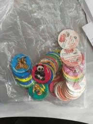 60 TAZOS PONG PONG + CARDS ELMA CHIPS