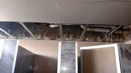 Forro e paredes drywall