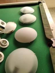 Luminária redonda de teto