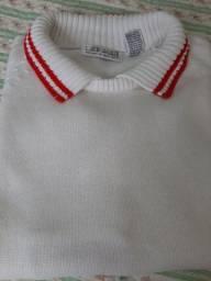Blusa curta de lã (feminina)