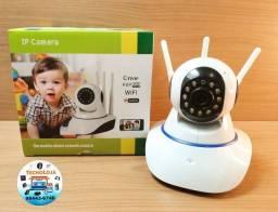 Câmera Ip Wifi 3 Antenas Infra Vermelho Robo Onvif CAM-5702 Inova