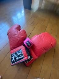 Luva de muay thai / box + fita de proteção