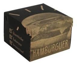 Caixa Box Embalagem Hambúrguer Personalizado Kraft